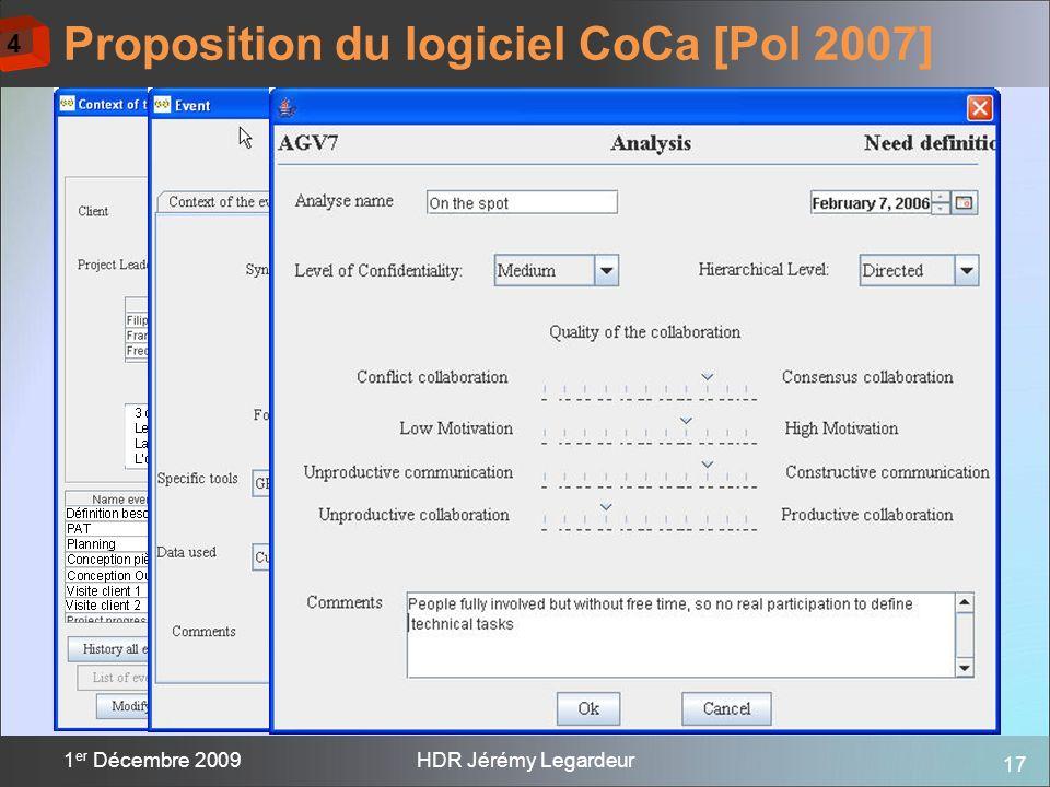 Proposition du logiciel CoCa [Pol 2007]